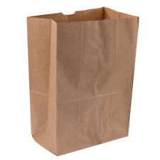 "Duro 1/6 Brown Paper Barrel Sack 12"" X 7"" X 17"" - 25/Pack"