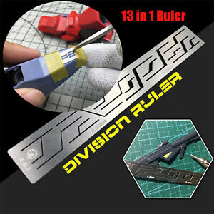 13 In 1 Details Ruler Stainless steel Tool for Gundam Model Craft Accessories