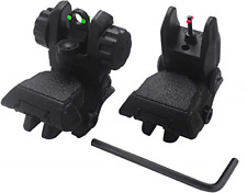 AWOTAC Polymer Black Fiber Optics Iron Sights Flip-up Front and Rear Sights with