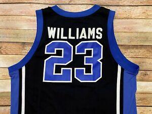 Nike Elite DUKE BLUE DEVILS Jersey #23 JAY WILLIAMS Vtg 1999-2002 NCAA Black XL