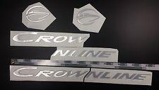 "CROWNLINE boat Emblem 20"" Epoxy Stickers Resistant to mechanical shocks Vinyl"