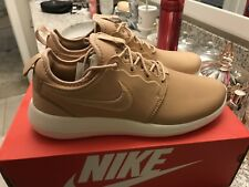 Nike Lab Roshe 2 Leather Prm Tan Nude Sz 8.5 NEW cool grey gamma space jam bred