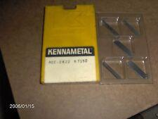 "AEC2422, GR: KT150 ""KENNAMETAL""   CERMET MILLING INSERTS, 8 PIECES"