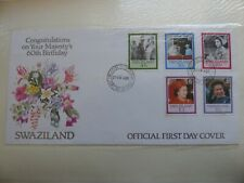 First Day Cover Congratulation On Your Majesty 60 Swaziland 1986