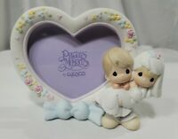 """Precious Moments Wedding Frame Groom And Bride """"Bless You Two"""" 2000 Vintage Rare"""