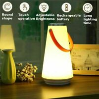 USB Rechargeable LED Night Light Touch Dimmable Lamp Hiking Camping Tent Lantern
