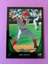 2011 Bowman Draft #101 Mike Trout RC Card Angels MVP Very Nice see pics
