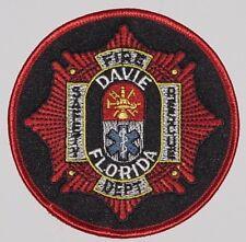 Abzeichen Aufnäher Patch Feuerwehr Fire Department Davie Florida .........A5275