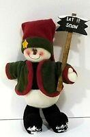 """Snowman """"Let It Snow"""" Soft Sculpture Figure, Holidays, Wintertime, Christmas"""
