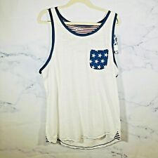 Unzipped Tank Top Men's L White Independence Day Summer Shirt
