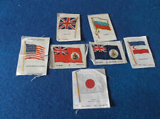 Vintage Silk Cigarette Cards. Lot of 7 Individual Flags