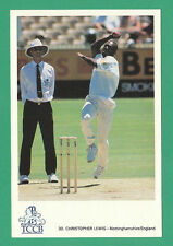 CRICKET - CLASSIC CRICKET POSTCARD - NO. 30  -  CHRIS LEWIS OF NOTTINGHAMSHIRE