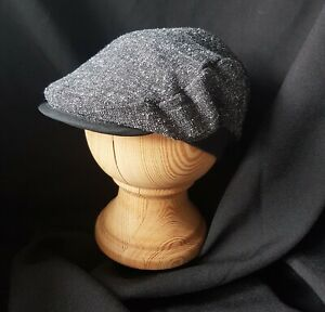 Tweed Style Baby/Toddler Flat Cap - Dark Grey (Fully lined) made in the UK Daily