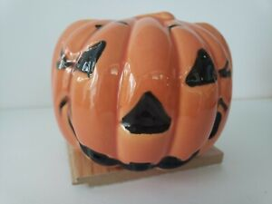 Vintage Pumpkin Haeger Pottery Jack O Lantern Halloween Planter 311 Ceramic Bowl