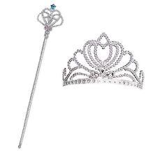 enfants filles Princesse conte fées Fée Argent Wand COURONNE REINE habillage