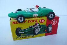 DINKY TOYS GB  LOTUS RACING CAR Ref 241 1963/70  TRÈS BON ÉTAT  BOITE D'ORIGINE