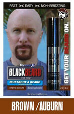Mens Temporary Hair Colour Dye Mascara Beard Moustache Eyebrows BROWN AUBURN