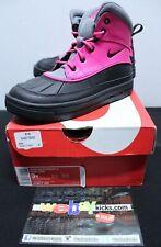 Nike Woodside II 2 High Boot Pink Grey Gray Black Girl's Size 3 524877-600 New
