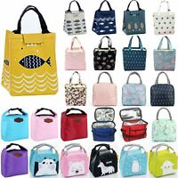 Large Insulated Lunch Bag Thermal Cool Bags Food Picnic Boxes Case Tote Portable
