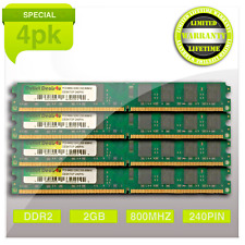 8GB 4x2GB DDR2 2RX8 800MHZ PC2-6400U 240 PIN DIMM Intel Ram Desktop Memory