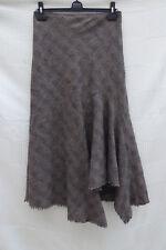 "Marks & Spencer Per Una tweed/blanket asym flip hem long skirt W 29"" Size 8 L"
