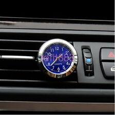 1Pc Car Air Vent Quartz Clock Auto Interior Watch Luminous Stick-On Clock New