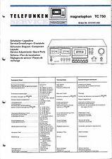 Service Manual-Anleitung für Telefunken Magnetophon TC 750