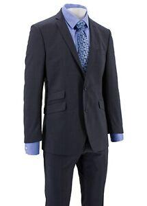 Mens Savile Row Slim Fit Suit Grey Pinstripe