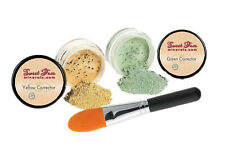 GREEN & YELLOW CORRECTOR KIT Mineral Makeup Concealer Bare Skin Sheer Powder