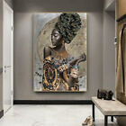 African Black Woman Graffiti Art Posters And Prints Canvas Paintings Wall Decor
