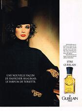 PUBLICITE ADVERTISING 124  1987  GUERLAIN   parfum de toilette  SHALIMAR