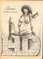 1988 Vintage Easyriders ''Travienne'' D. James Edmondson Matted Biker Art