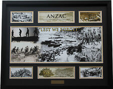New ANZAC Limited Edition Memorabilia Framed