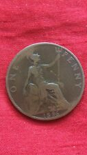 Queen Victoria 1896 Penny Bronze One Penny Coin