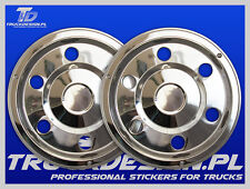 Truck wheel cover straight 2 x 17.5  Wheel Trims Stainless STEEL Mercedes ATEGO