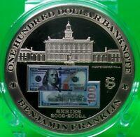 $100 BENJAMIN FRANKLIN BANKNOTE COMMEMORATIVE COIN VALUE $89.95