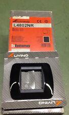 Bticino LIVING Placca 2 moduli Nera art: L4802NR