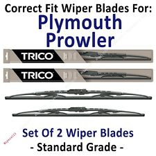 Wiper Blades 2-Pack Standard - fit 1997-2001 Plymouth Prowler - 30170/190