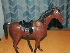 Vintage Best of the West Bay Nodding Horse Johnny West Jointed Head Saddle Reins