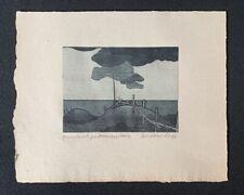 Hans Sperschneider, Probedruck […], Radierung, 1976, handsigniert und datiert