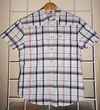 Wrangler Men's Short Sleeved Shirt White Checks & Blue/Red Lines Size S