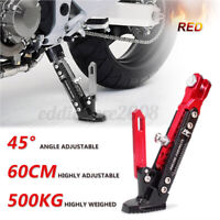 Red CNC Aluminum Alloy Adjustable Kickstand Foot Side Stand for Motorcycle