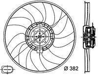 Engine Cooling Fan-Base Left Behr Hella Service 351044351