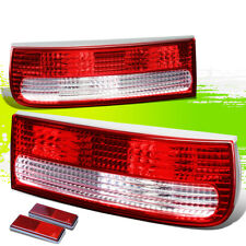 FOR 90-96 300ZX Z32 FAIRLADY Z CLEAR LENS HOUSING RED REAR SIGNAL TAIL LIGHTS