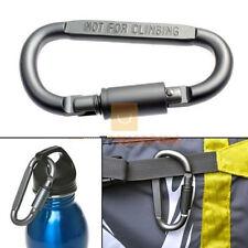 Camping Outdoor Aluminum D-Ring Screw Locking Carabiner Hook Clip Key Chain SM
