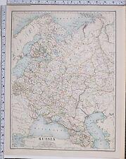 1889 Grande Antico MAP ~ Russia Europea Crimea Caucasia Polonia Finlandia