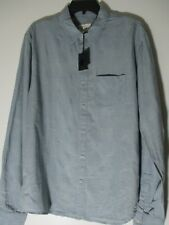 The Shirt by Joe's Jeans Unisex light blue plaid 2 pockets Button down SZ M NWT