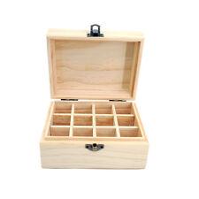 12 Slots Essential Oil Storage Box Wooden Case Container Aromatherapy Organizer