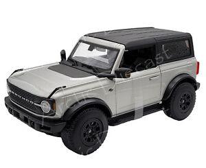Maisto 1:18 Special Edition Diecast Exclusive Silver 2021 Ford Bronco Wildtrak