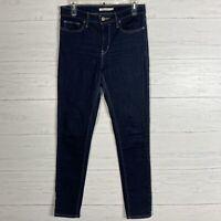 Levis Slimming Skinny Jeans Womens Sz 29 Dark Wash Worn Once